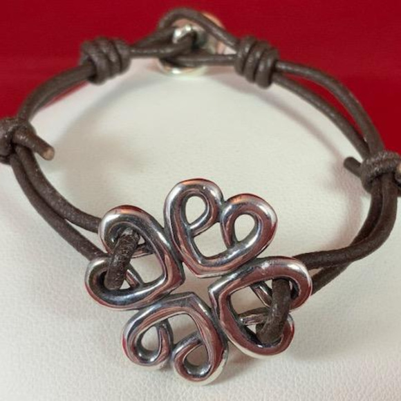 James Avery Jewelry - James Avery 925 & Lether Bountiful Hearts Bracelet